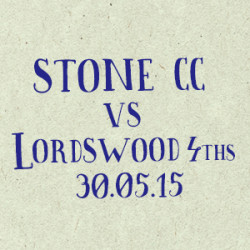 Stone CC vs Lordswood 4ths
