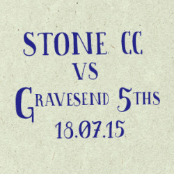 Stone Cricket Club vs. Gravesend 5s match report