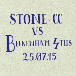 Stone Cricket Club vs. Beckenham 4s match report