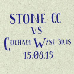 Stone Cricket Club vs. Cudham Wyse 3s match report